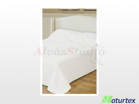 Naturtex Clara microfiber ágytakaró - fehér csíkos 235x250 cm