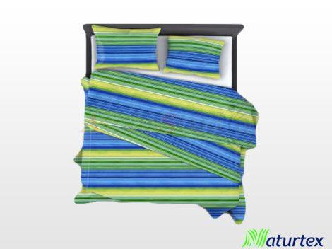 Naturtex 3 részes pamut-szatén ágyneműhuzat - Lime