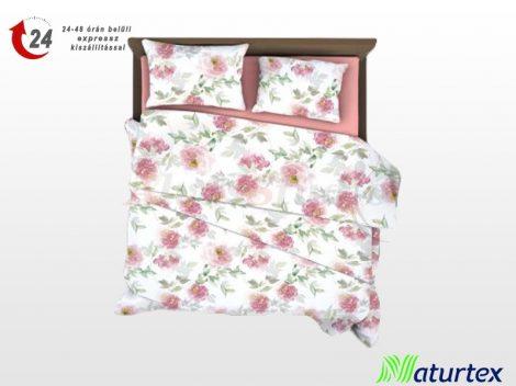 Naturtex 3 részes pamut-szatén ágyneműhuzat - Pink rose