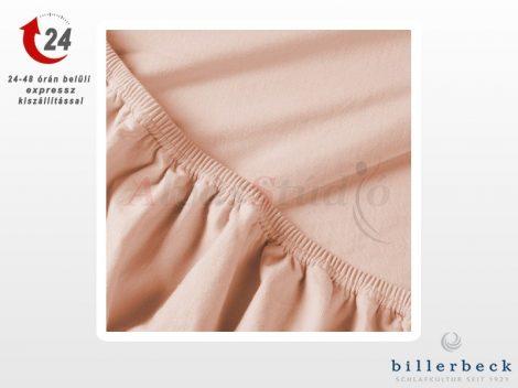 Billerbeck Rebeka Jersey gumis lepedő Epres krémes  90-100x200 cm