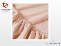 Billerbeck Rebeka Jersey gumis lepedő Epres krémes 180-200x200 cm