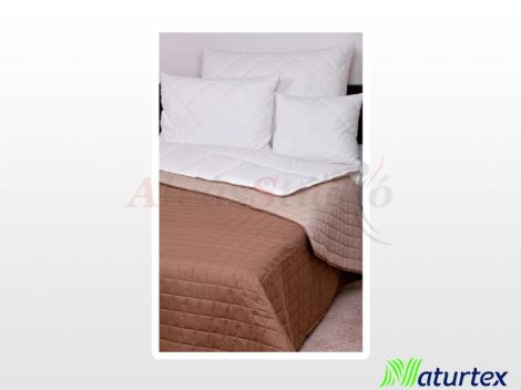Naturtex Laura microfiber ágytakaró - barna-drapp 140x240 cm