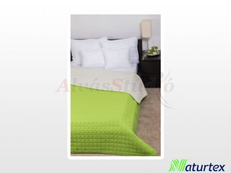 Naturtex Laura microfiber ágytakaró - zöld-krém 235x250 cm