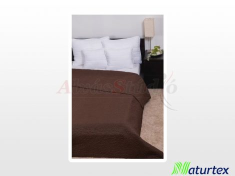 Naturtex Clara microfiber ágytakaró - sötétbarna márvány steppelt 235x250 cm