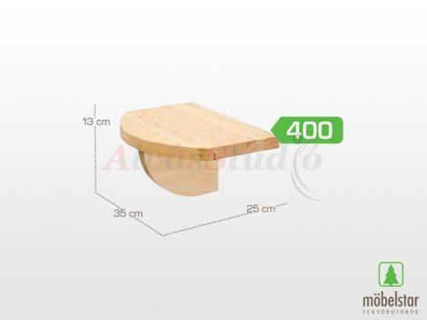 Möbelstar 400 - natúr fenyő könyvtartó konzol