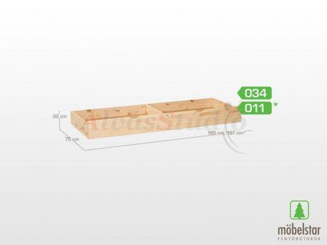 Möbelstar 034 - natúr fenyő ágyneműtartó fiók (3/4-es méretű)