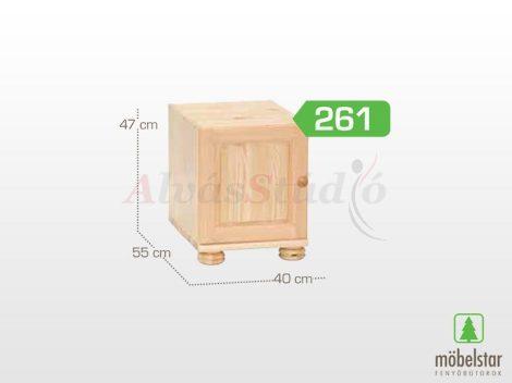 Möbelstar 261 - 1 ajtós natúr fenyő szekrény magasító