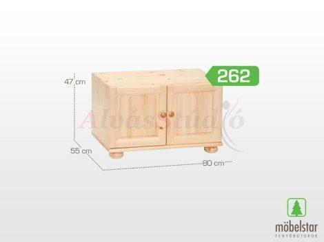 Möbelstar 262 - 2 ajtós natúr fenyő szekrény magasító