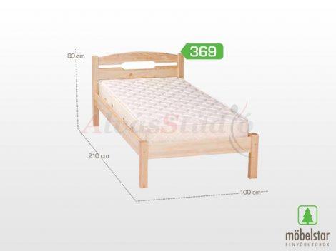 Möbelstar 369 - natúr fenyő ágykeret 90x200 cm