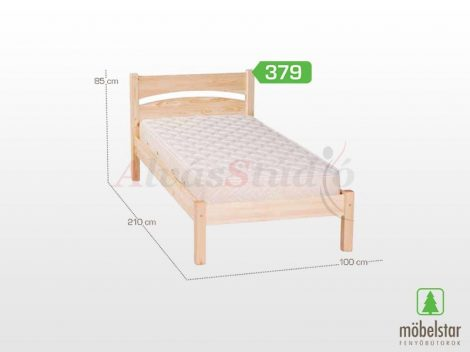 Möbelstar 379 - natúr fenyő ágykeret 90x200 cm