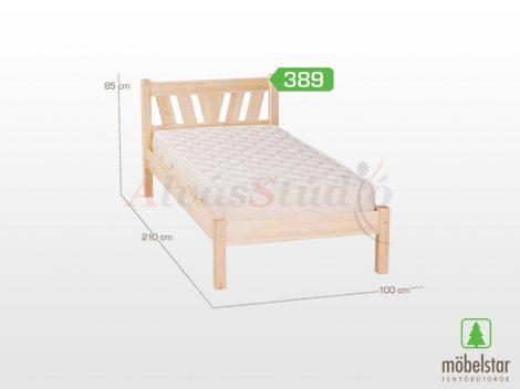 Möbelstar 389 - natúr fenyő ágykeret 90x200 cm