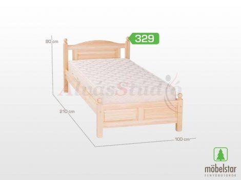 Möbelstar 329 - natúr fenyő ágykeret 90x200 cm