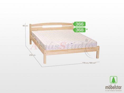 Möbelstar 366 - natúr fenyő ágykeret 160x200 cm