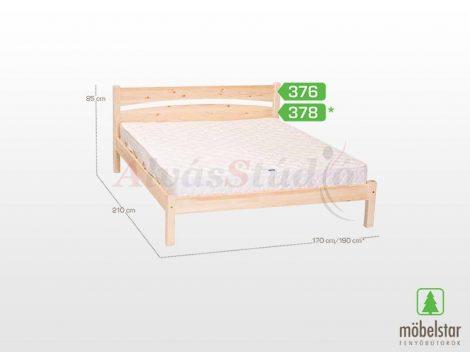Möbelstar 376 - natúr fenyő ágykeret 160x200 cm
