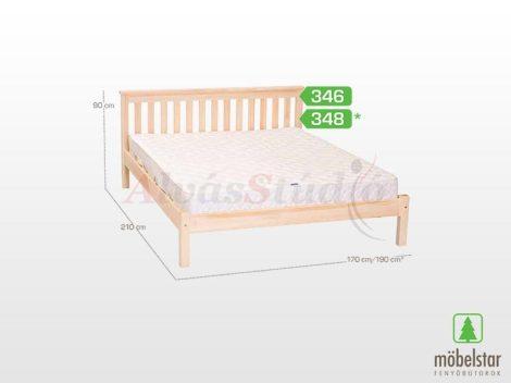 Möbelstar 346 - natúr fenyő ágykeret 160x200 cm