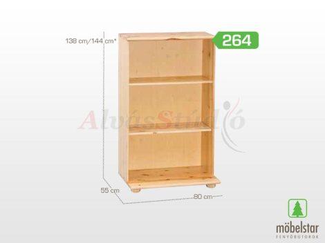 Möbelstar 264 - natúr fenyő polcos elem