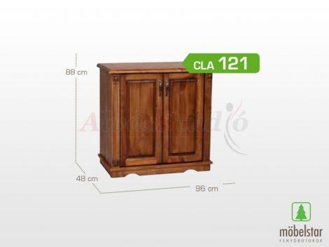Möbelstar CLA 121 - 2 ajtós pácolt fenyő komód