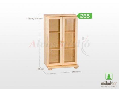 Möbelstar 265 - natúr fenyő vitrines elem