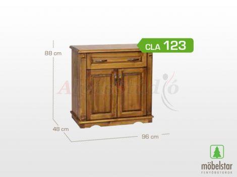 Möbelstar CLA 123 - 2 ajtós 1 fiókos pácolt fenyő komód