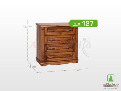 Möbelstar CLA 127 - 4 fiókos pácolt fenyő komód