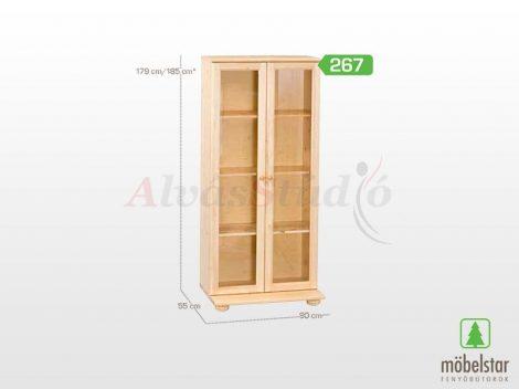 Möbelstar 267 - natúr fenyő vitrines elem