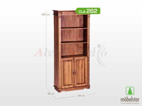 Möbelstar CLA 262 - 2 ajtós pácolt fenyő nyitott polc