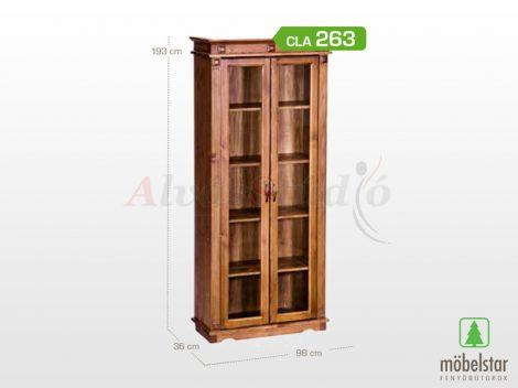 Möbelstar CLA 263 - 2 ajtós pácolt fenyő vitrin
