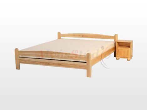 Kofa Monori - natúr fenyő ágykeret 160x200 cm