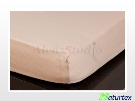 Naturtex Jersey gumis lepedő Homokbarna  90-100x200 cm