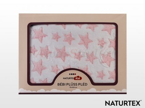 Naturtex Baby Design pléd - Pink Star