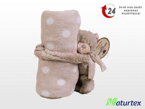Naturtex Baby Design pléd - ölelős Teddy plüssel