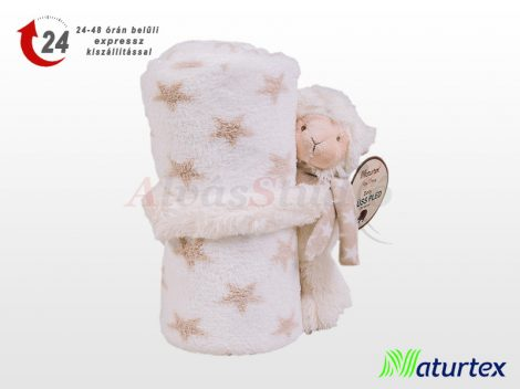 Naturtex Baby Design pléd - ölelős Dolly plüssel