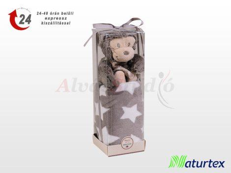 Naturtex Baby Design pléd - majmos plüssel