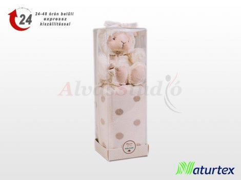 Naturtex Baby Design pléd - bárányos plüssel