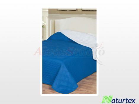 Naturtex Emily microfiber ágytakaró - fehér-kék kockás