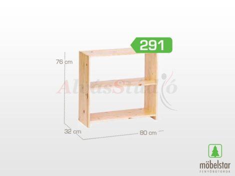 Möbelstar 291 - natúr fenyő nyitott polc