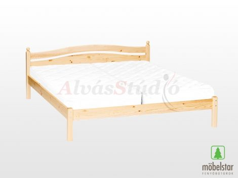 Möbelstar 308 - natúr fenyő ágykeret 180x200 cm