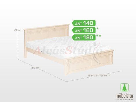 Möbelstar ANT 140 - antik festett fenyő ágykeret 140x200 cm
