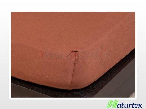 Naturtex Jersey gumis lepedő Csokibarna  90-100x200 cm