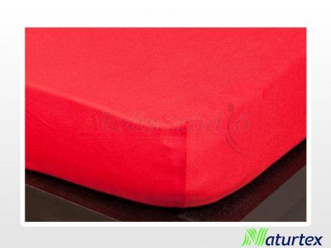 Naturtex Jersey gumis lepedő Piros  90-100x200 cm