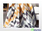 Naturtex pamut-akril pléd - Rhombus