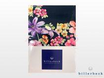 Billerbeck Bianka 3 részes pamut-szatén ágyneműhuzat - fekete virágos