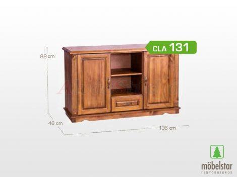 Möbelstar CLA 131 - 2 ajtós 1 fiókos pácolt fenyő komód